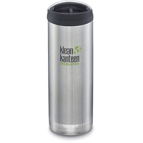 Klean Kanteen TKWide Flasche mit Cafe Cap 473ml Vakuumisoliert brushed stainless